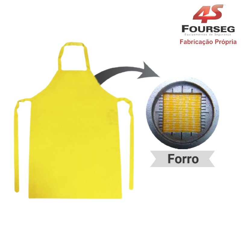 Avental PVC Amarelo FOURSEG