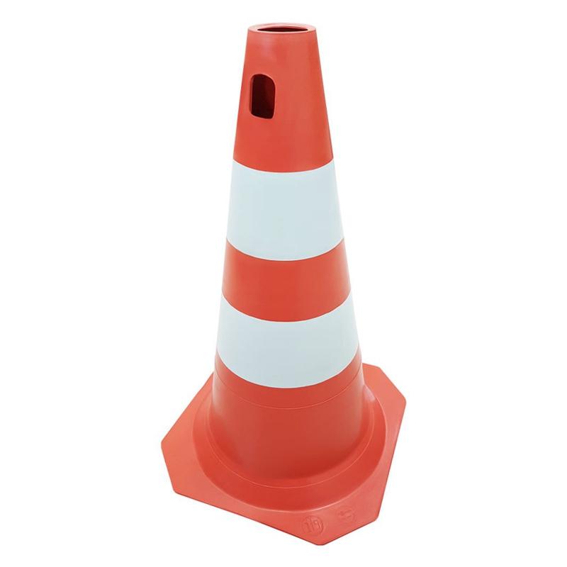 Cone PLT Injetado Laranja e Branco