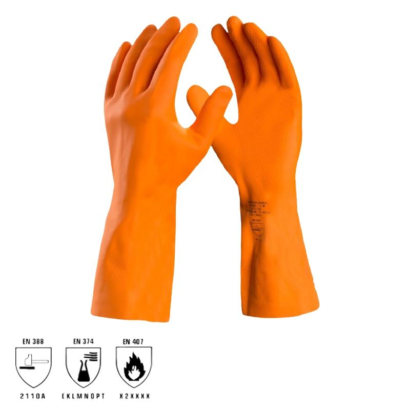 Luva Látex Reforçada Max Orange DANNY
