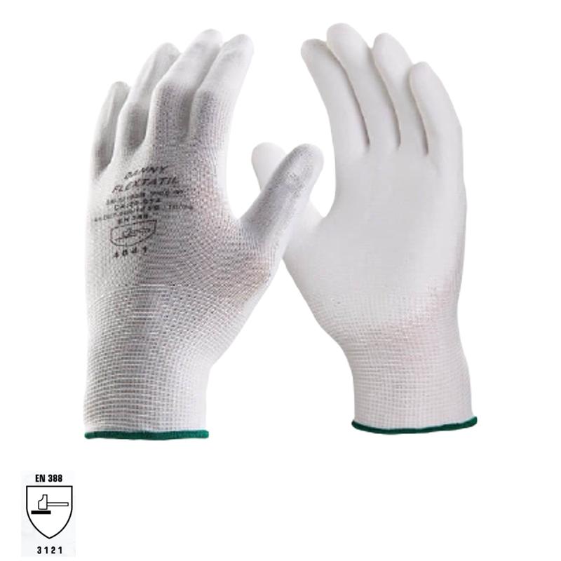Luva Tricotada Nylon Flextáctil Preta DANNY