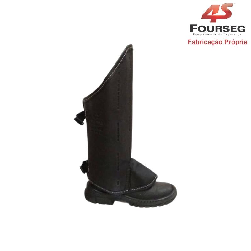 Perneira Curta Velcro com Fecho FOURSEG