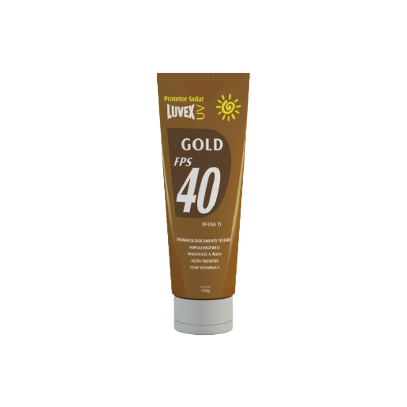 Protetor Solar FPS 40 GOLD LUVEX