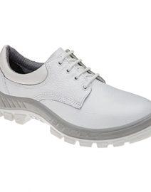 Sapato de Segurança em Couro com Cadarço Branco MARLUVAS