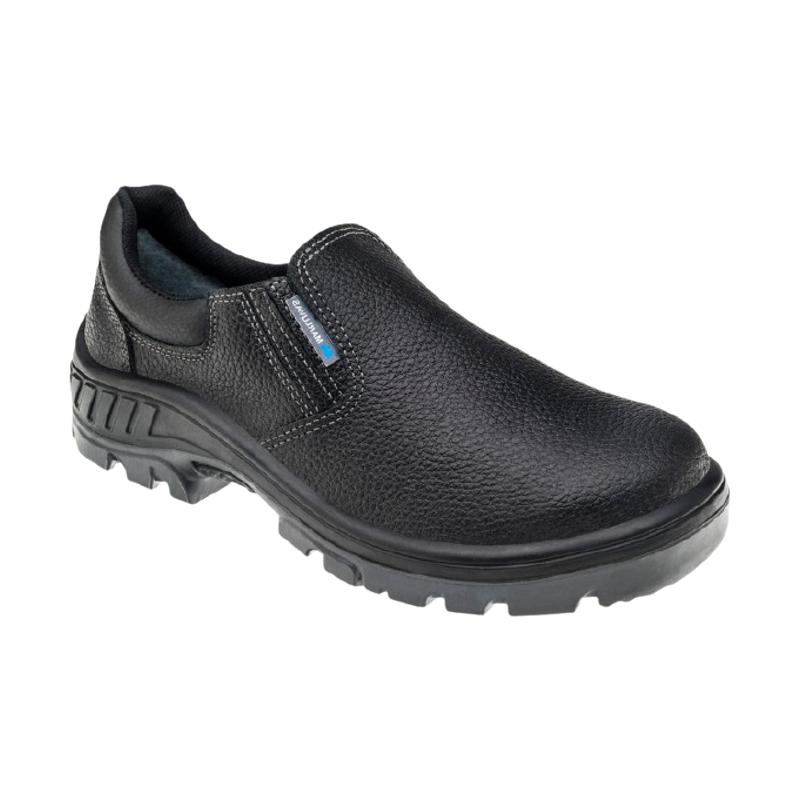 Sapato de Segurança em Couro com Elástico Preto MARLUVAS