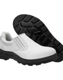 Sapato de Segurança em Vaqueta Branco com Elástico