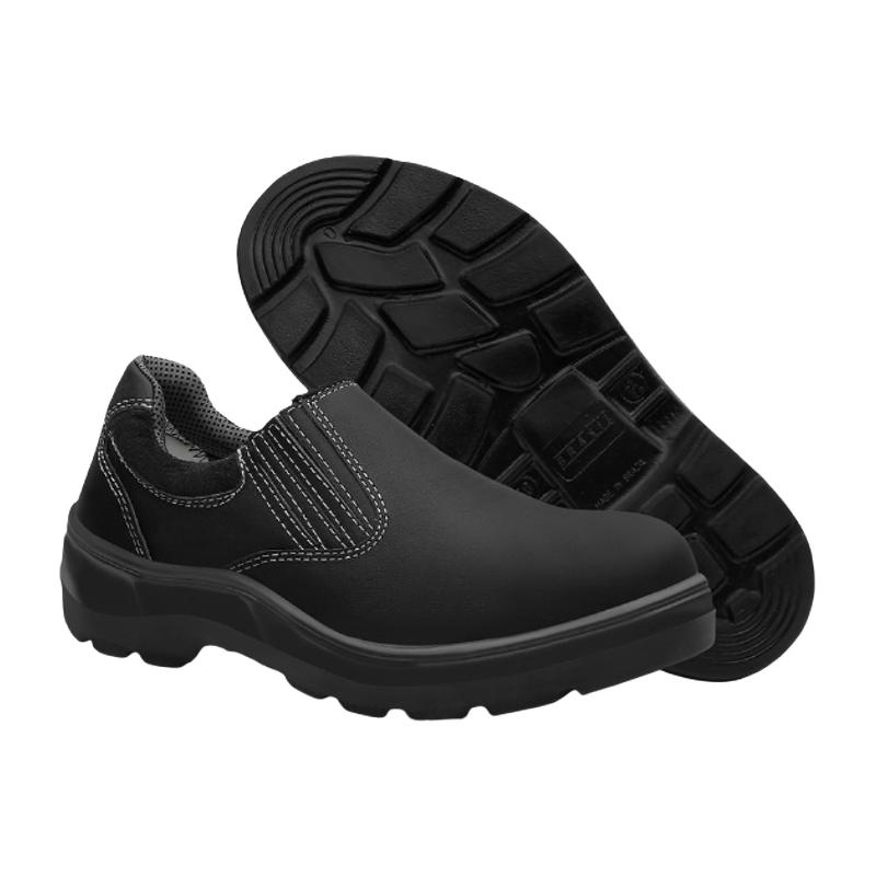 Sapato de Segurança em Vaqueta Preto com Elástico